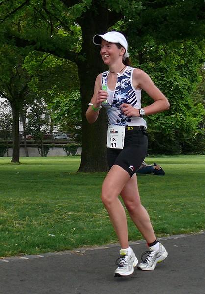 Iris Hadbawnik beim Ironman 2005